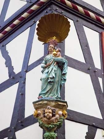 momumental madonna on a german house Stock Photo - 10379522