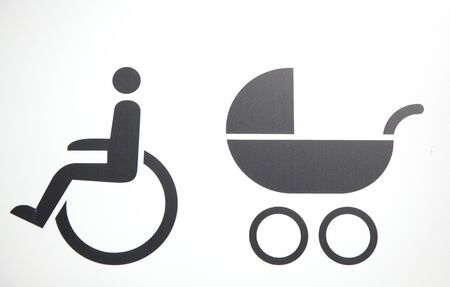 square handicap sign with wheelchair  photo