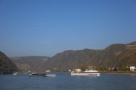 boats on the rhine photo