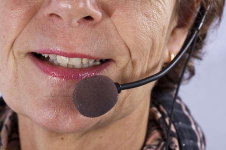 closup of a callcenter agent photo