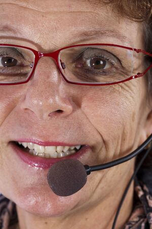 closup of a callcenter agent Stock Photo - 11810063