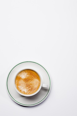 coffecup on a white background photo