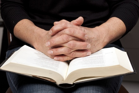word of god: woman reading the bible