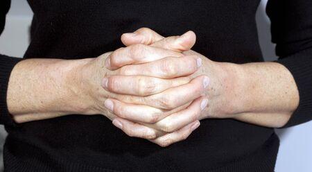 monotone holy: Image of praying hands  Stock Photo