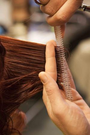 kadeřnictví stříhání vlasů Reklamní fotografie