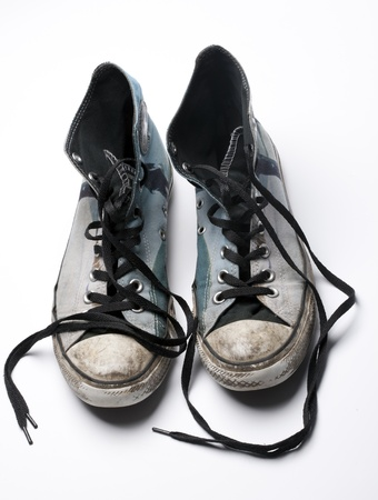 An old pair of trendy canvas shoes Stock Photo - 12043152