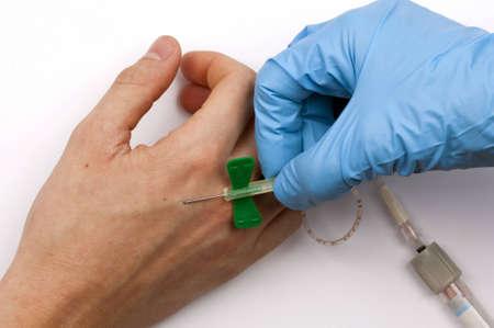 taking a blood sample photo
