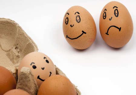 ova: three eggs  Stock Photo