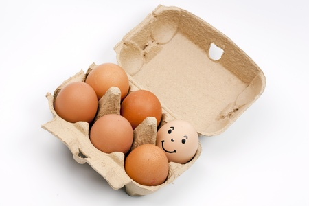 ovoid: eggs in a box Stock Photo