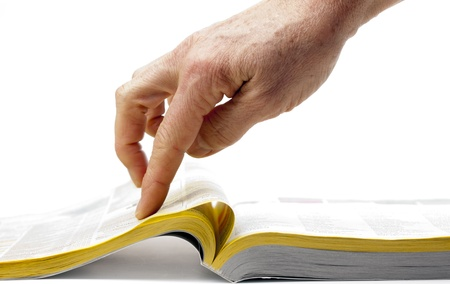 directorio telefonico: la búsqueda a través del papel amarillo Foto de archivo