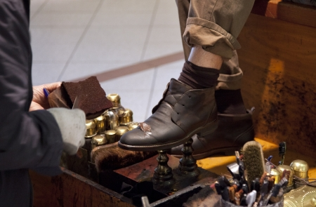 shoes polish Stock Photo