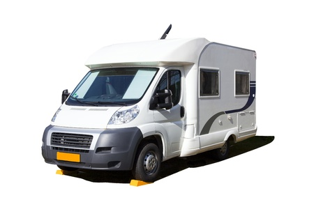 motorhome: isolated camper Stock Photo