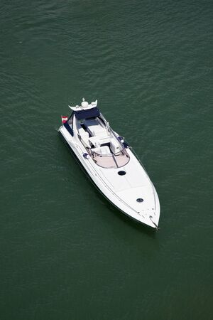 speedboat: yacht from above
