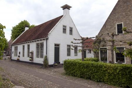 groningen: oude huizen in Bourtange Groningen Nederland