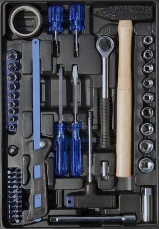 set tools in a box photo