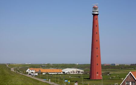 dutch lighthouse with blue sky Reklamní fotografie - 14291089