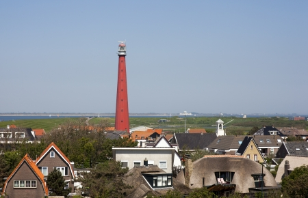 dutch lighthouse with blue sky Reklamní fotografie - 14291094