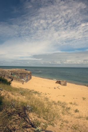 hirtshals: bunker at the france coast Stock Photo