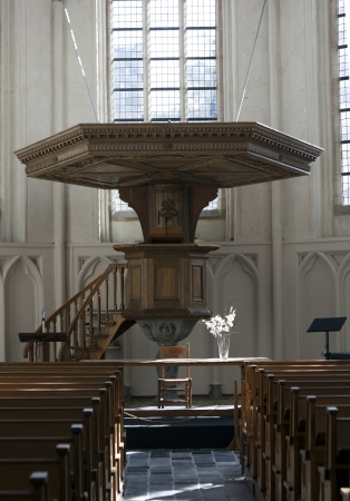 pulpit in a dutch church