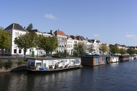 boats in the centre of middelburg