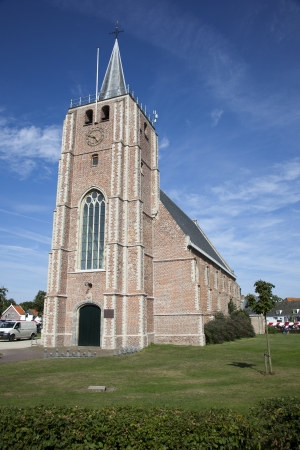 church in the centre of renesse Reklamní fotografie