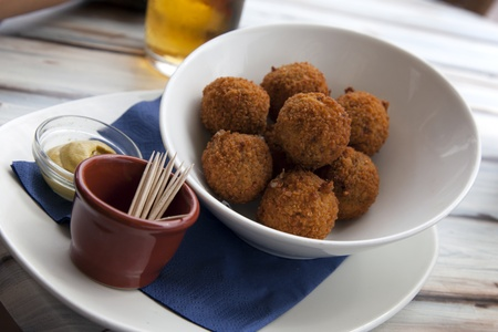 A real traditional Dutch snack called  bitterball