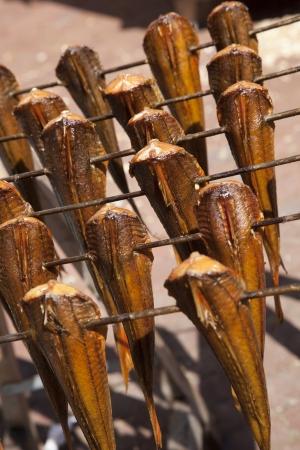 smokes fish