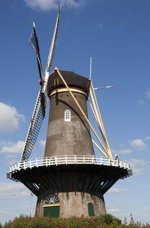gorinchem: traditional dutch windmill in Gorinchem