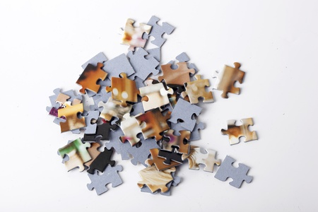 Colorful puzzle isolated on white