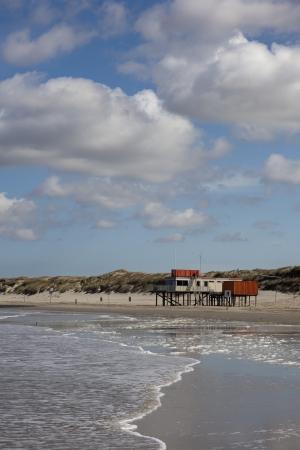 Multi colored houses for recreation near the beach  Reklamní fotografie