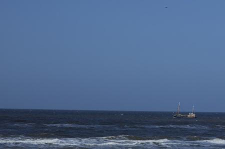 dutch fishboat fishing at open sea Reklamní fotografie