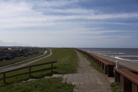 Dutch sea dike in North Holland  Reklamní fotografie