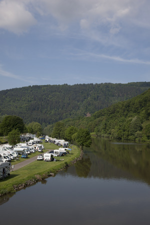 camping at the neckar nearby heidelberg