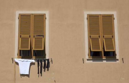 laundry drying in the sun Reklamní fotografie