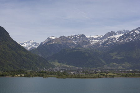 view to Lake Lucerne and mountain Vierwaldstattersee