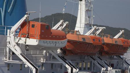 Safety lifeboat on deck of a cruise ship Reklamní fotografie