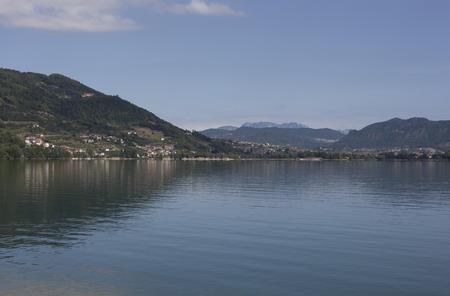 lake of caldonazzo, itlay Reklamní fotografie