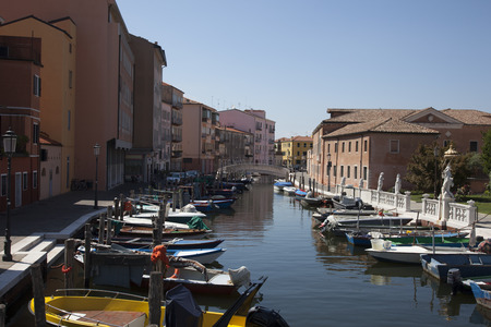 Canal at the old town of Chioggia - Italy Reklamní fotografie - 50801615