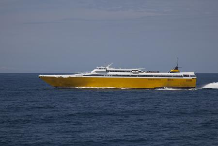 fast ferry to elba with blue sky Reklamní fotografie