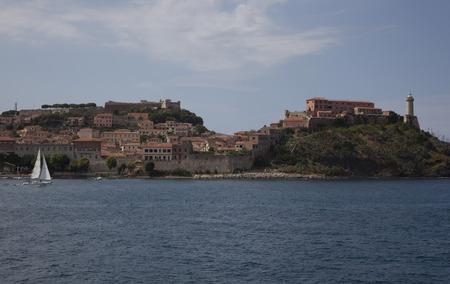 the harbour of Portoferraio, Elba Island.