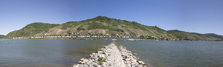 Panorama view to the river rhine  in germany