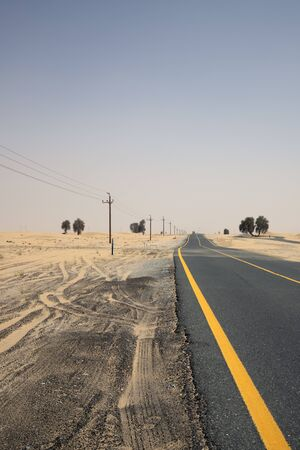 a empty road in dubai