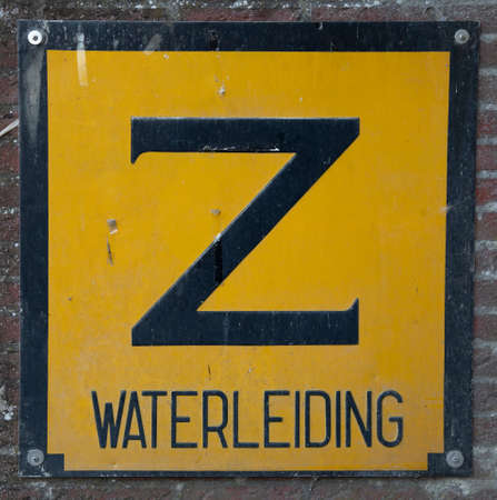 Yellow warning sign with letter 'Z'