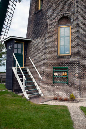 Deatil of an old dutch windmill