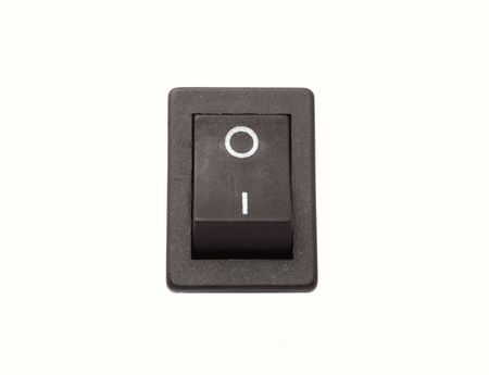 toggle: Isolated black on - off power switch