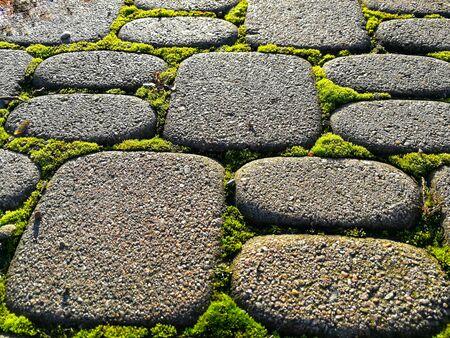 Rounded paving stones pattern Stockfoto
