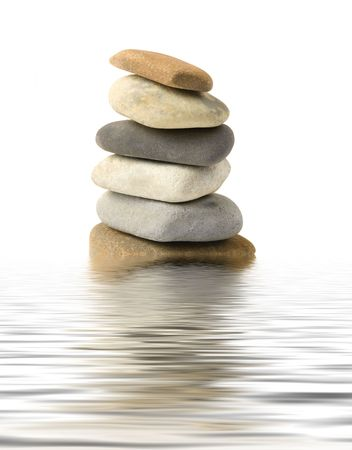 Stone tower in water