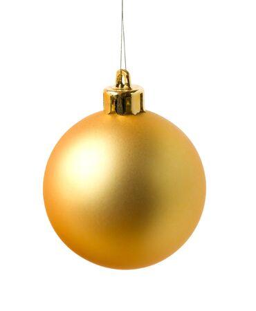 Yellow cristmas ball