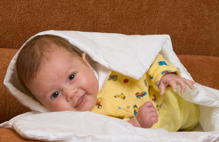 Baby in blanket Stock Photo - 2226456