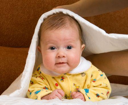 Baby in blanket Stock Photo - 2226455